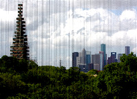 View of Downtown Houston from the inside of the MFAH